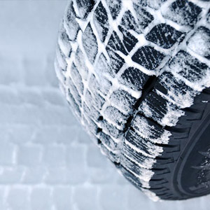 winter tyres in snow