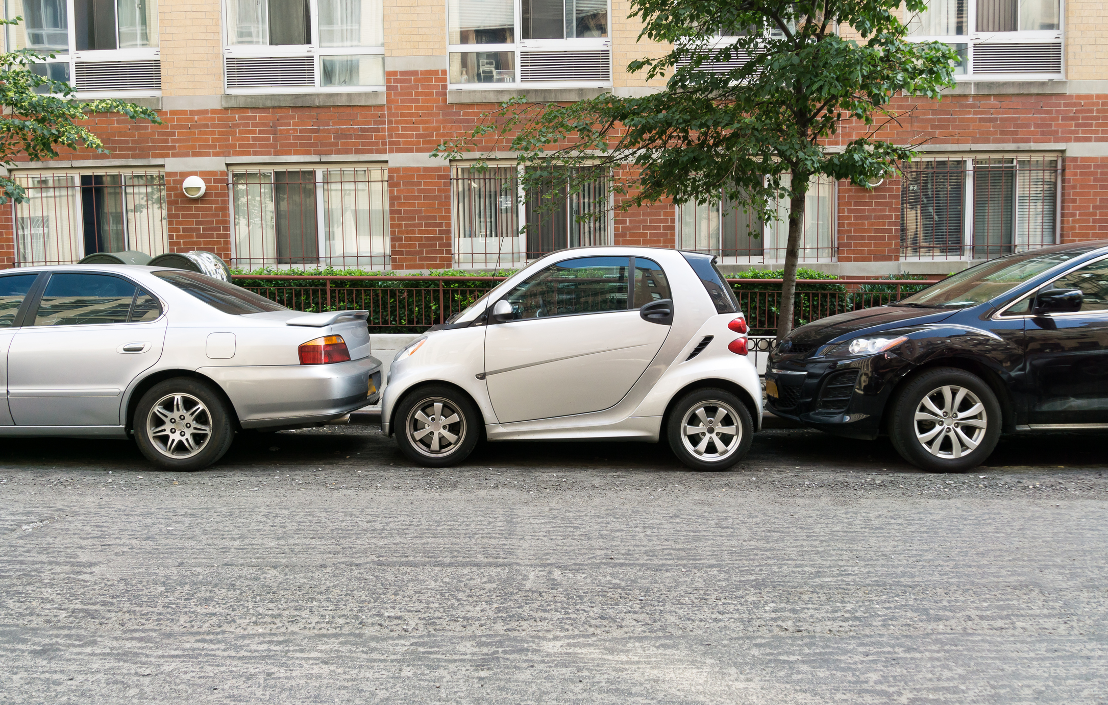 Car parallel parked